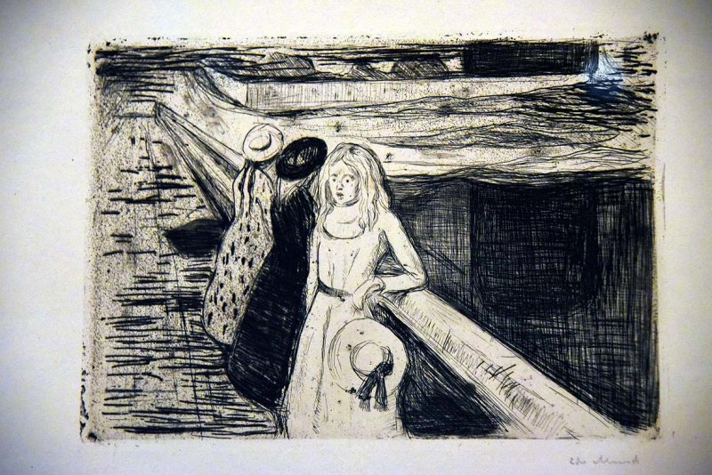 Girls on a Bridge (1903) - Edvard Munch - 3980