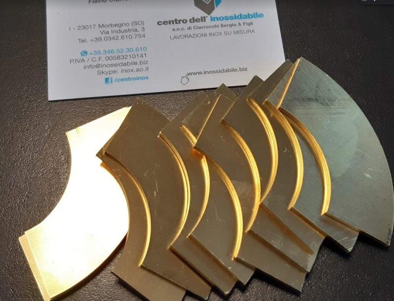 taglio laser fibra lamiera ottone