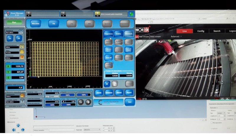 display macchina laser fibra conto terzi morbegno