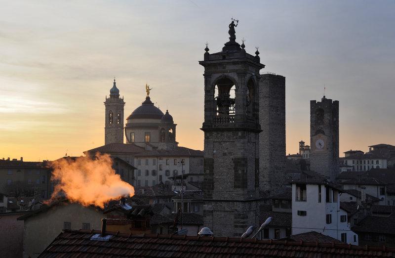 Old town of Bergamo