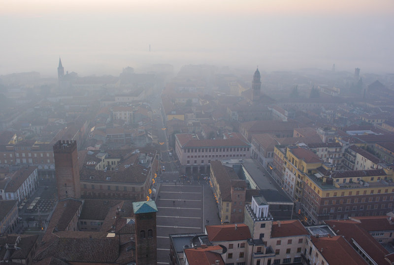 View on old town of Cremona