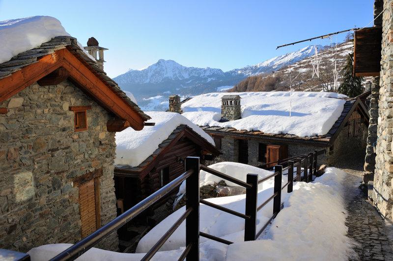 Aosta Valley region, La Magdeleine mountain village