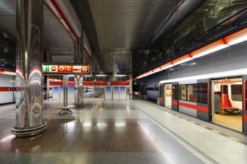 Empty station on a Sunday morning