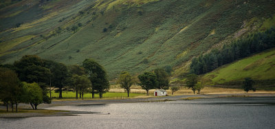 A view across the lake at Buttermere, Lake District National Park,Cumbria, UK