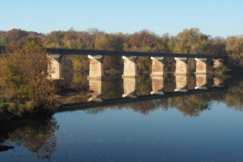 US Highway 11 crosses the Potomac river at Williamsport, MD
