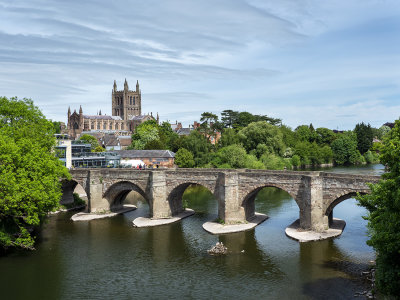 River Wye and Cathedral