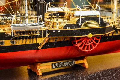 Skipet var fransk, het l'Orenoque, og var en damp/seilfregatt fra midten av 1800-tallet