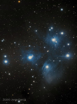 Messier-45, the Pleiades or seven sister