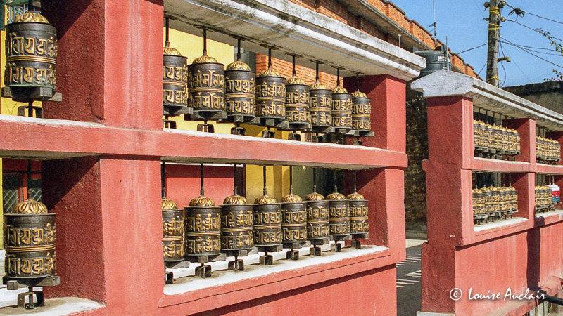 Moulin à prière Katmandou