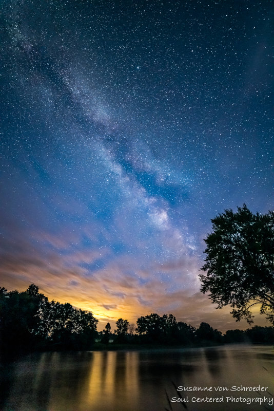 Milky Way with clouds