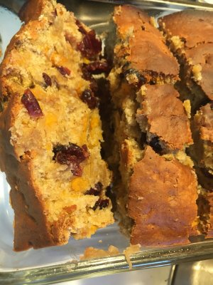 Banana-Cranberry-Sweet Potato Bread