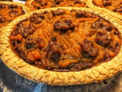 Bean Pie with Sweet Potato Topping