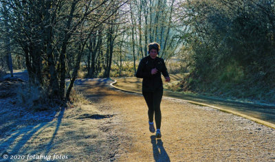 Jogging the Pre Trail on a Frosty Morning.