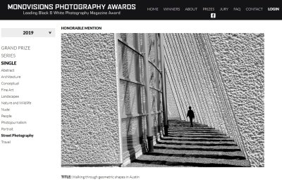 2019 MonoVisions Photography Awards - Honorable Mention