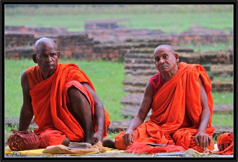 Two Serious Monks.