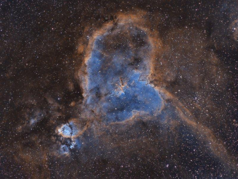 Heart Nebula in Narrowband