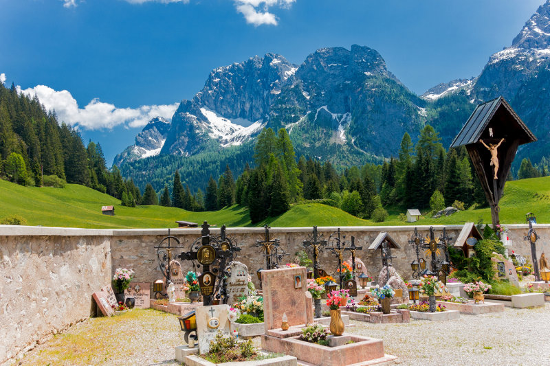 Cemetery in the Dolomites