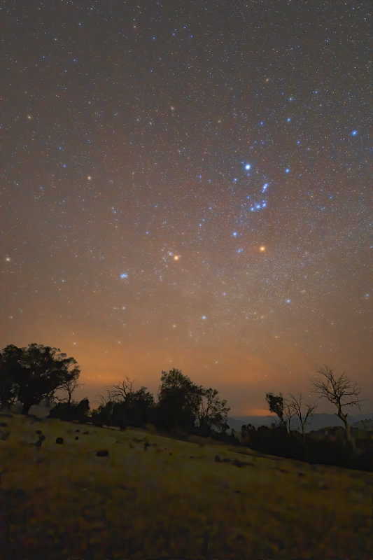 Orion and Pleiades Nightscape