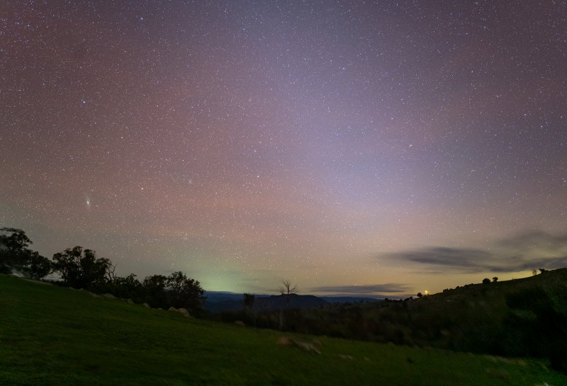 Zodiacal light  with the Andromeda Galaxy as well.