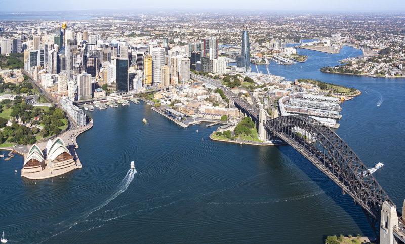 Scenic Flight Sydney CDB , Harbour Bridge and Opera House