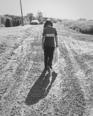 Walking a Lonely Gravel Road
