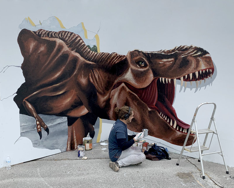 3D T Rex BreakThrough