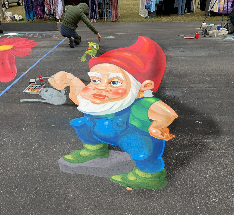 Dwarf With Pastels