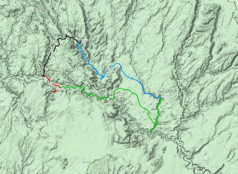 1st HIKE Map Escalante -The Gulch-Boulder Creek