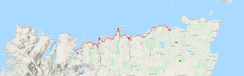 North Coast backpack map