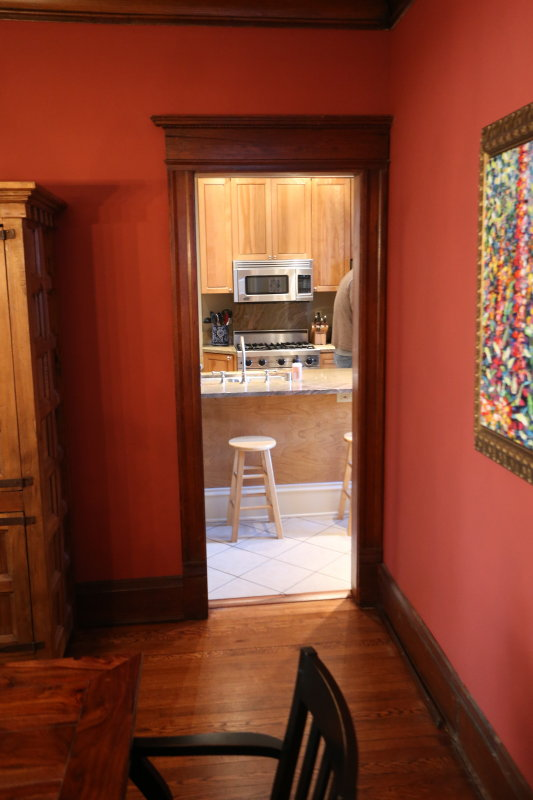 Dining room looking toward kitchen