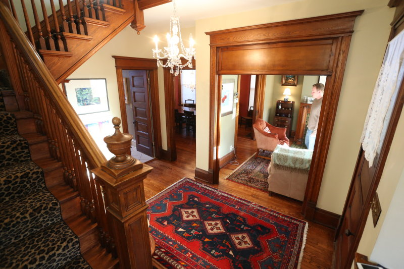 Foyer from 1st landing on main stairs
