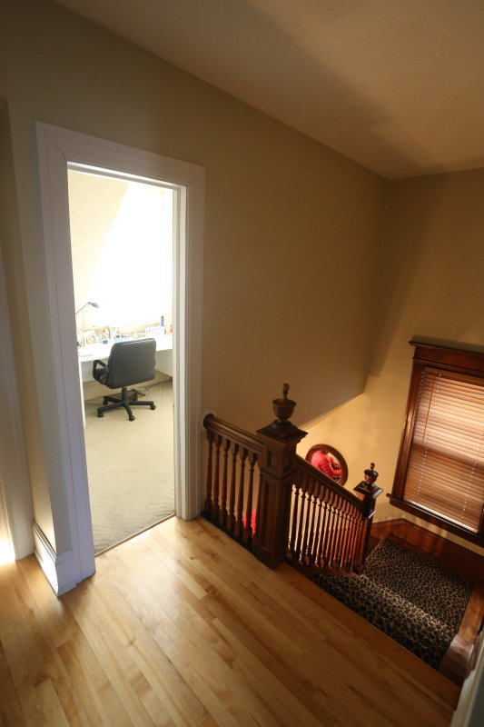 2nd floor office - bedroom from top of main stairs