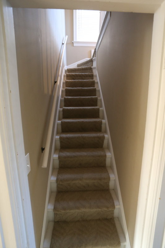 Stairs to third floor master suite