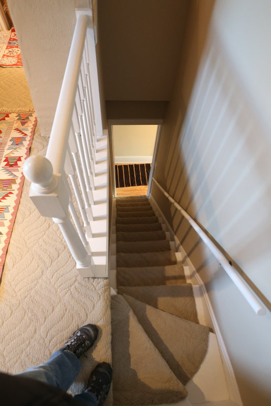 staircase down from third floor