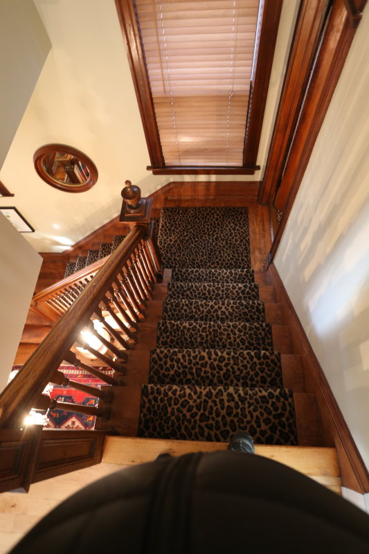 main staircase down from 2nd floor to 2nd landing