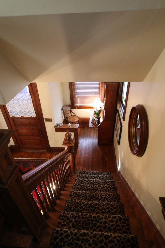 main staircase down from 2nd floor to 1st landing and alcove
