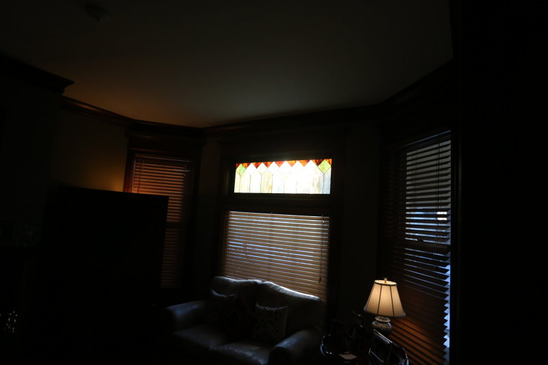 Stained glass in living room