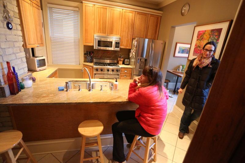 kitchen from door to foyer