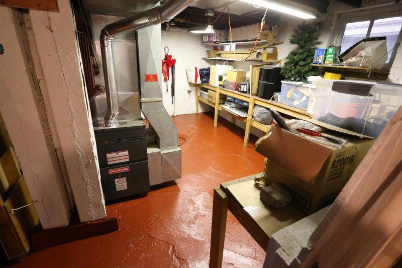 basement furnace storage