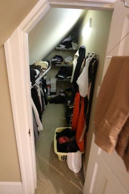 third floor walk in closet