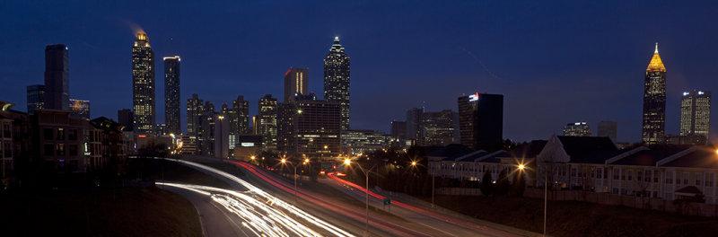 Atlanta Skyline From The Jackson Street Bridge