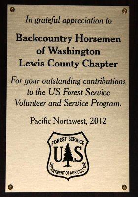 2012 USFS Pacific Northwest Award