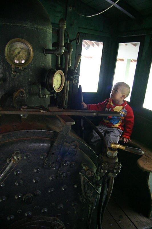 Edward operates the train.