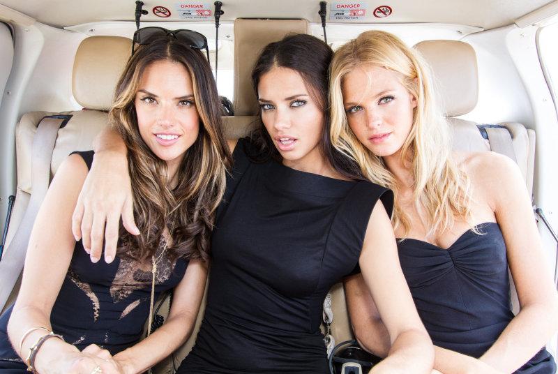 Supermodels Alessandra Ambrosio,Adriana Lima And Erin Heatherton