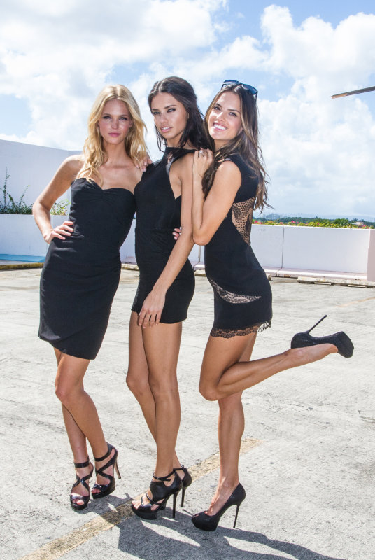 Supermodels Erin Heatherton, Adriana Lima and Alessandra Ambrosio