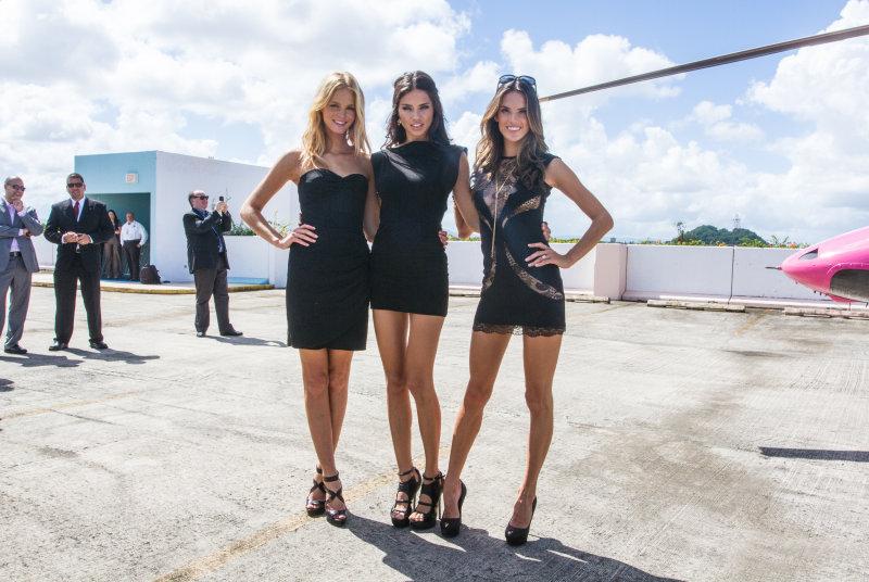 Supermodels Erin Heatherton,Adriana Lima and Alessandra Ambrosio