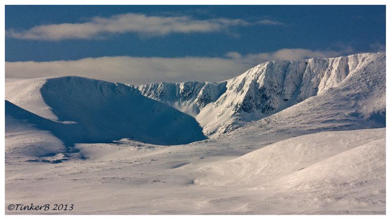 A long shot of Lochnagar