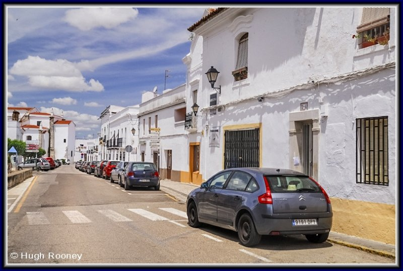 Spain - Extremadura - Olivenza - A typical street scene