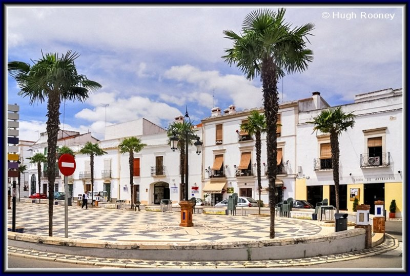 Spain - Extremadura - Olivenza - One of the towns plazas