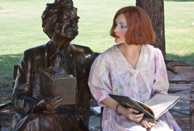 Lucy Reads with Mark Twain